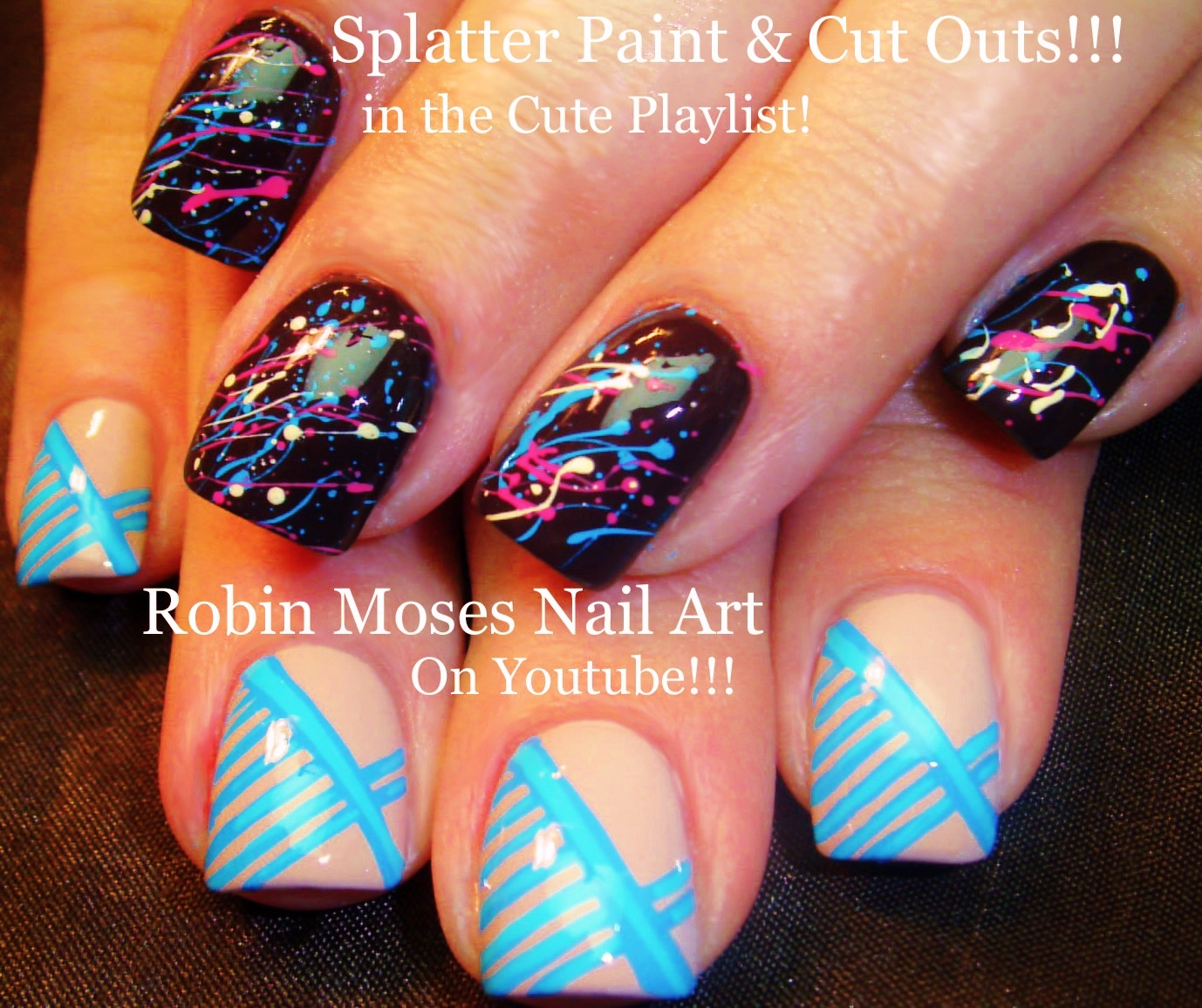 Robin Moses Nail Art Designs: Robin Moses Nail Art: Color Dripping Nail Design