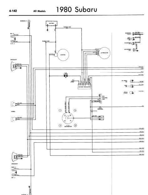 Subaru 1980 Models Wiring Diagrams