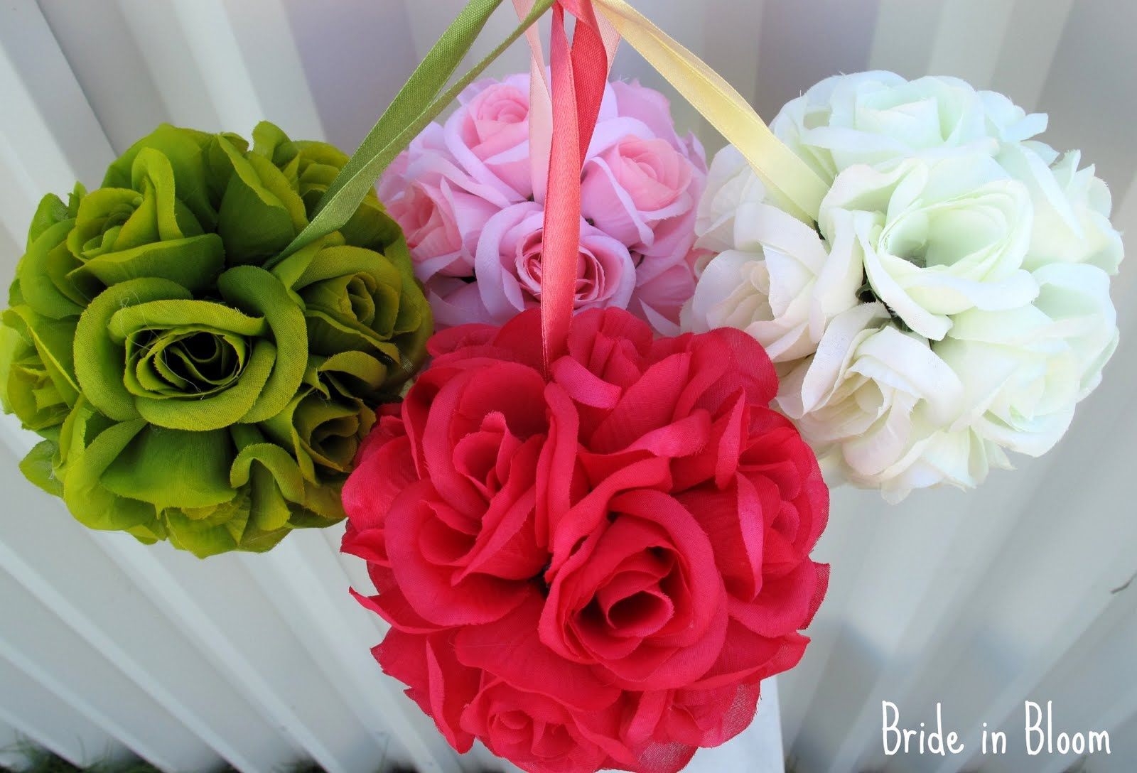 Bride In Bloom Great New Pomander Kissing Ball Colors