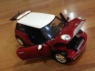 photo of a toy family car