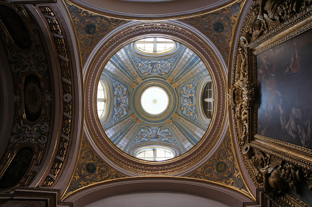 carmelite priory, mdina church dome malta