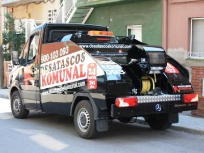 Desatascos con camión cuba