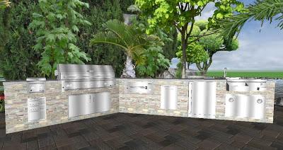 Mode Concrete Complimentary Outdoor Kitchen 3d Design