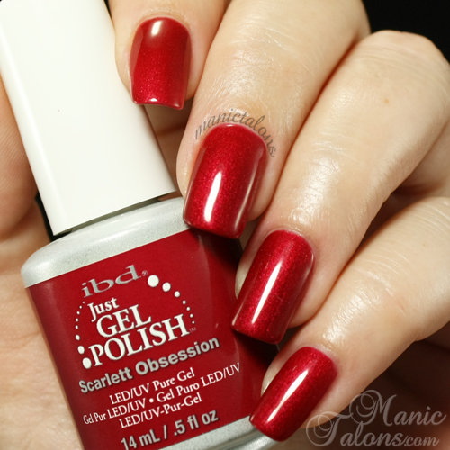 IBD Just Gel Polish Scarlett Obession Swatch
