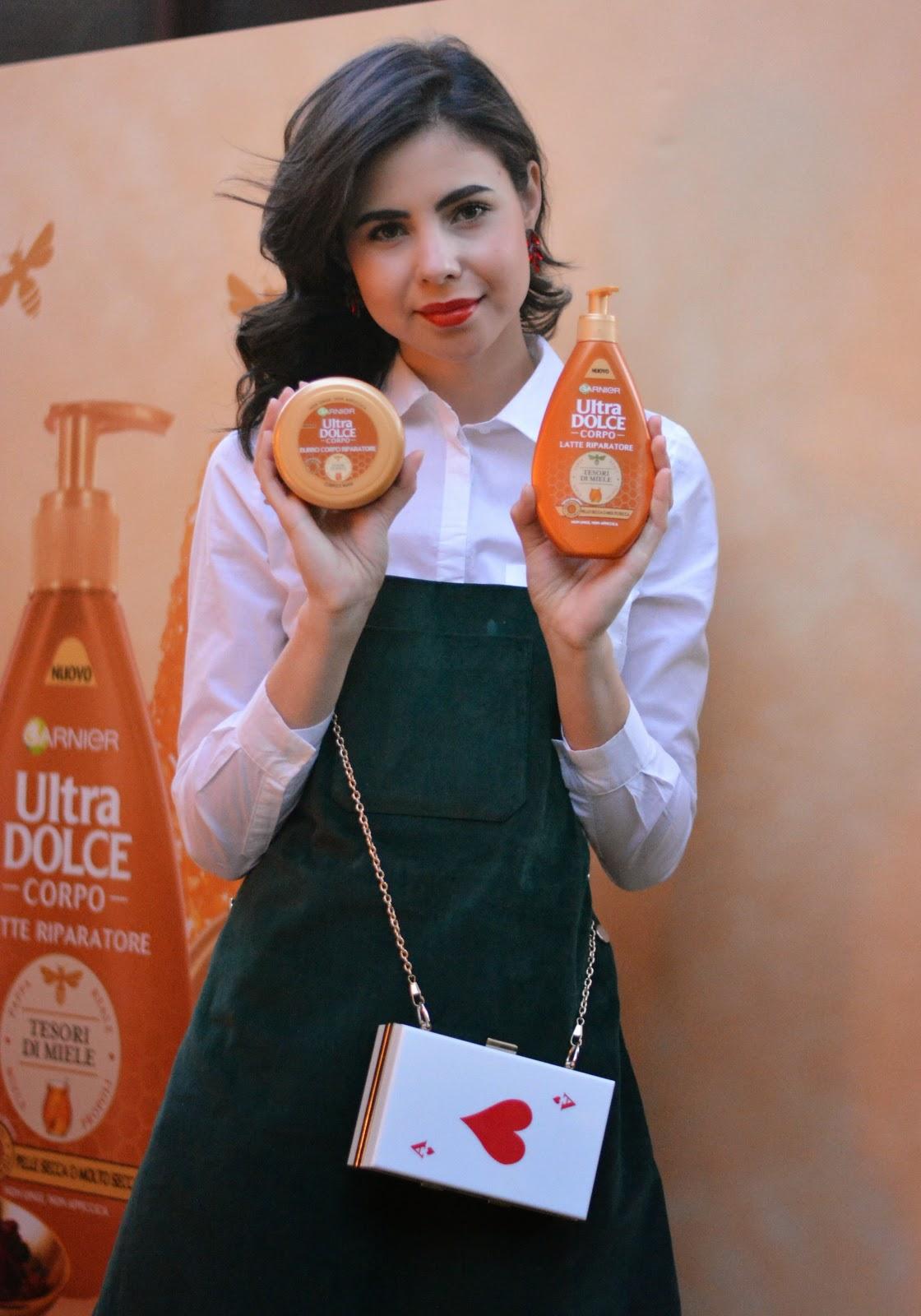 ultra dolce corpo , garnier italia , body care , juliane borges , beuty blogger italia