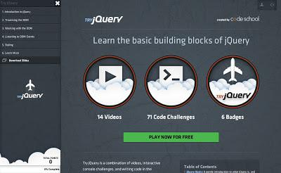 codeschool與jQuery.com推出免費jQuery教學