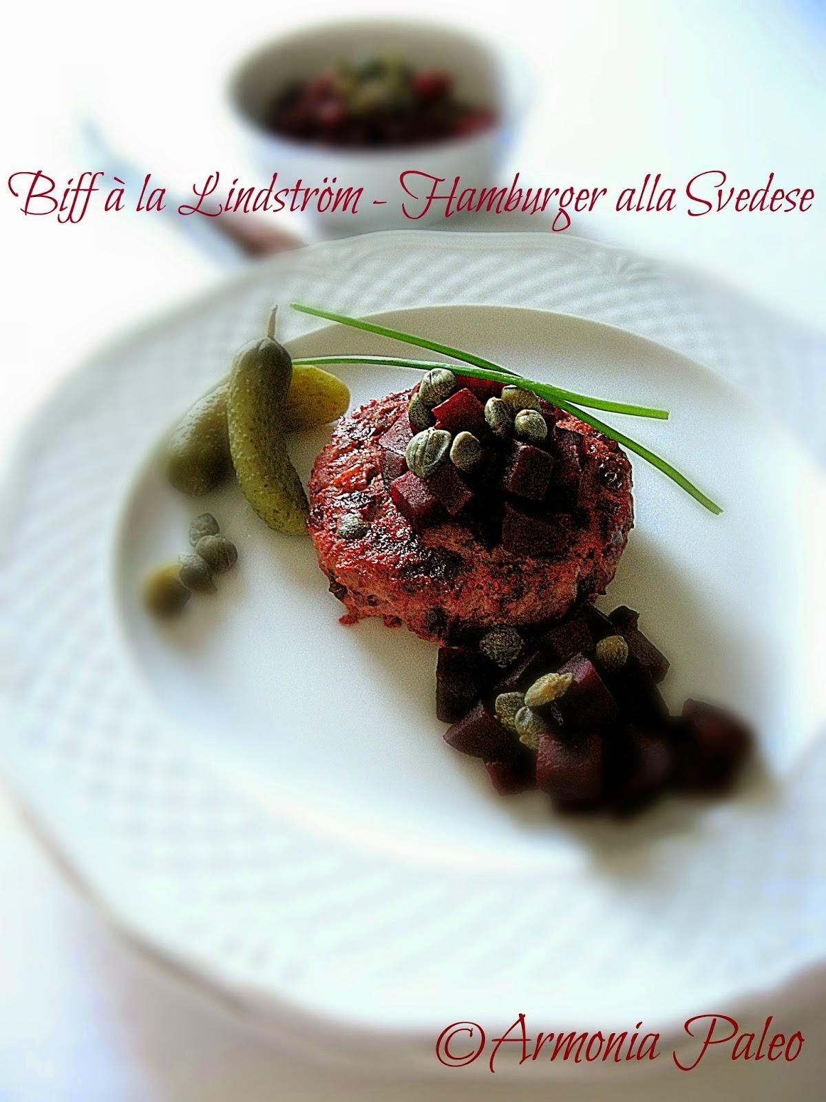 Biff à la Lindström - Hamburger alla Svedese di Armonia Paleo