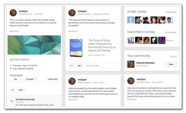 L'affichage de Google+ en 3 colonnes