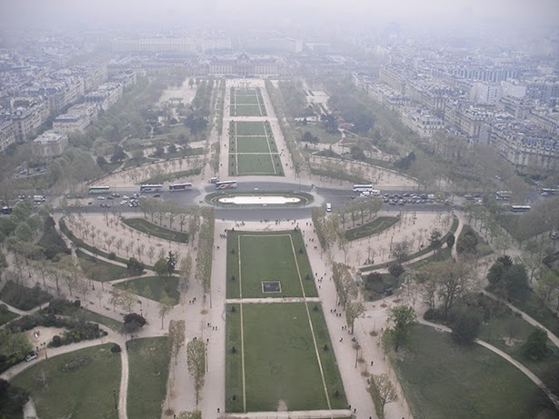 The view from the Eiffel Tower