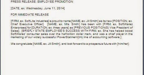 employee promotion news paper release letter