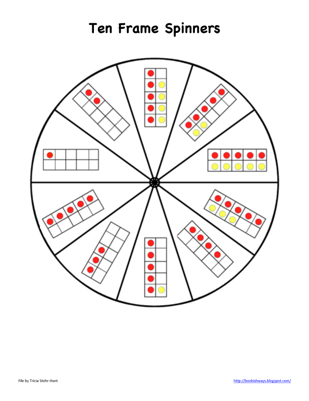 Simply Centers: Ten Frames Spinners