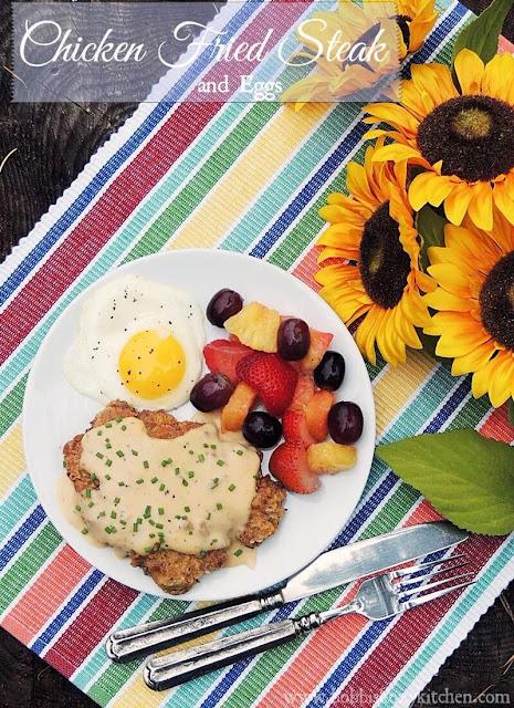 Chicken Fried Steak and Eggs from www.bobbiskozykitchen.com