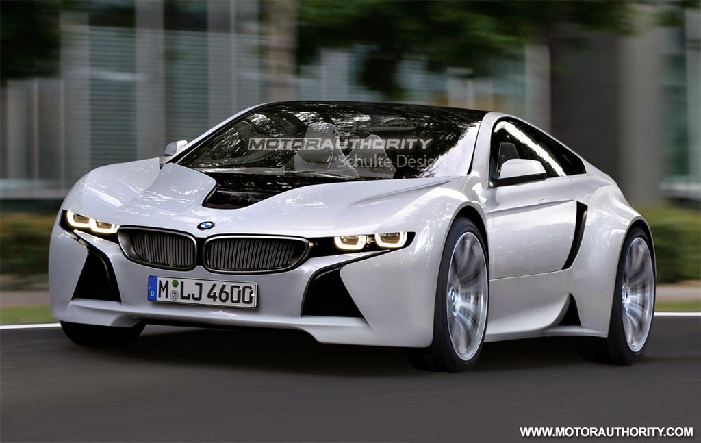 Green Bmw Sports Car Based On Vision Efficientdynamics Concept Renderingl