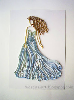 Quilling Woman   wesens-art.blogspot.com