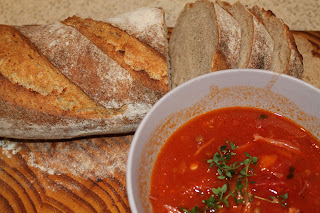 Soup and Miche Bread