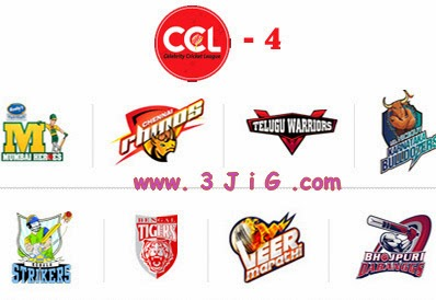 CCL 4 Points Table, Celebrity Cricket League 2014