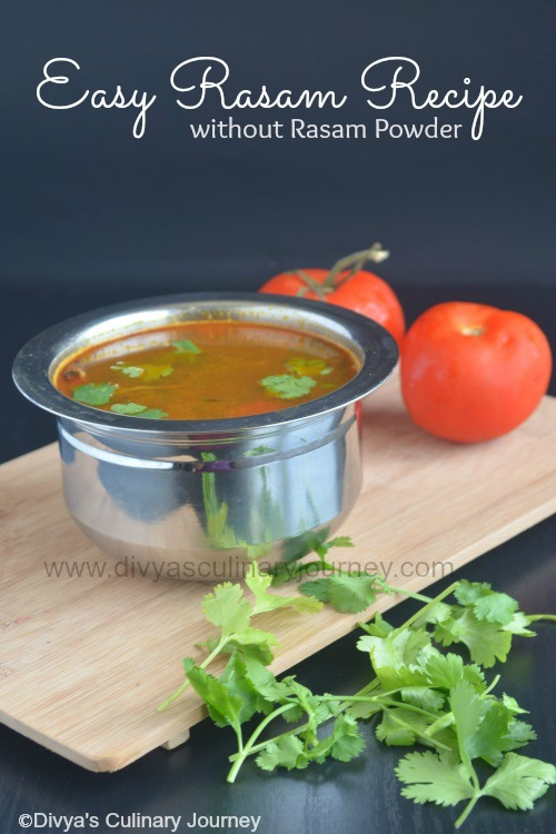Divyas culinary journey easy rasam recipe without rasam powder easy rasam recipe without rasam powder forumfinder Choice Image