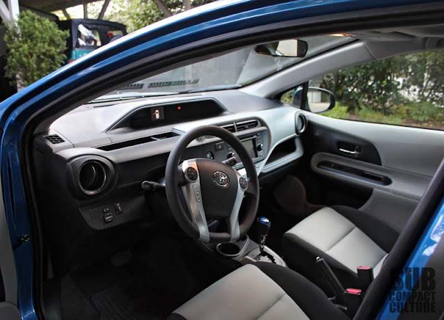 2012 Toyota Prius c interior