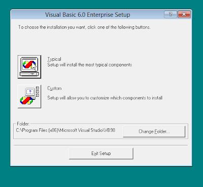 Cara lengkap Install Visual Basic 6.0 di Windows 8/8.1