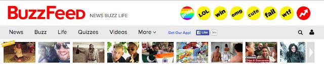 Captura de la cabecera del BuzzFeed