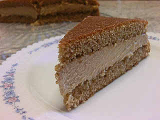 Tiramisu coffee cake with mascarpone filling