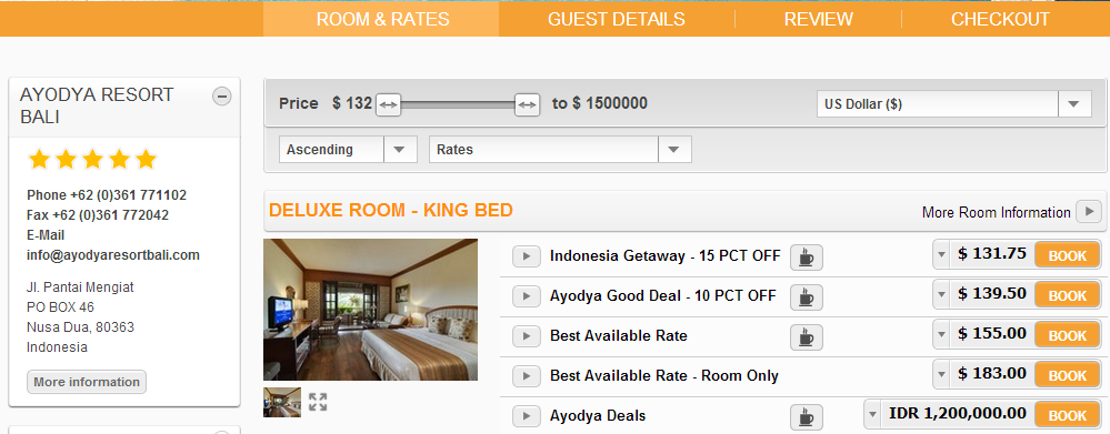 DELUXE ROOM KING BEED