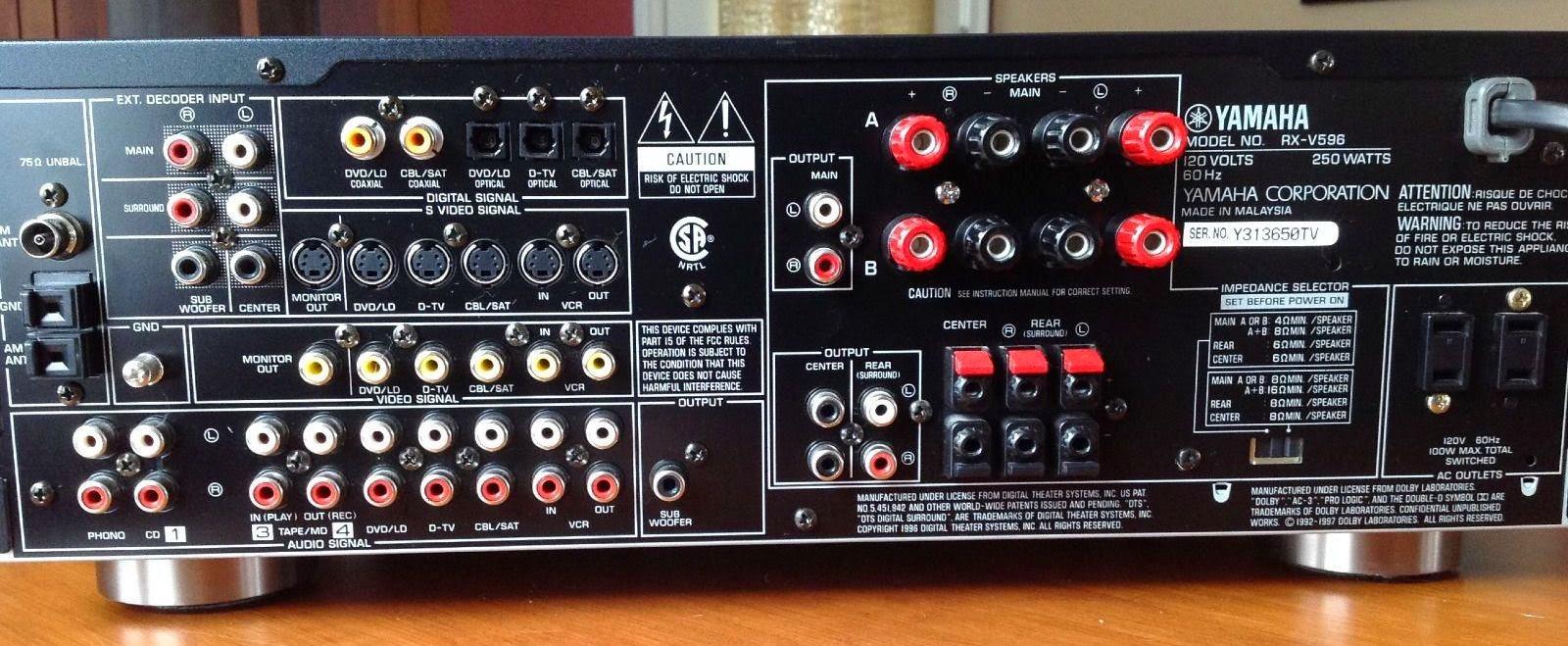 yamaha rx v596 av receiver audiobaza. Black Bedroom Furniture Sets. Home Design Ideas