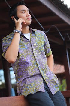 batik printing abstrak ungu