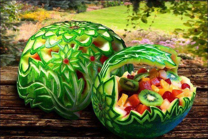 Conhecido Bellart Atelier: Artes com alimentos - Melancia. JR76