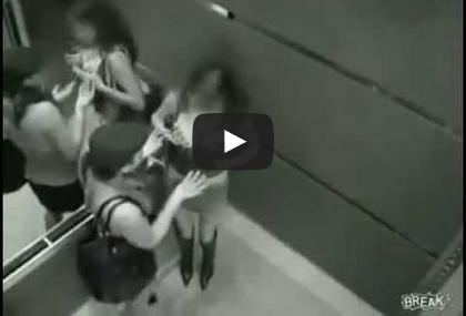 Flagras no elevador, Veja o vídeo!
