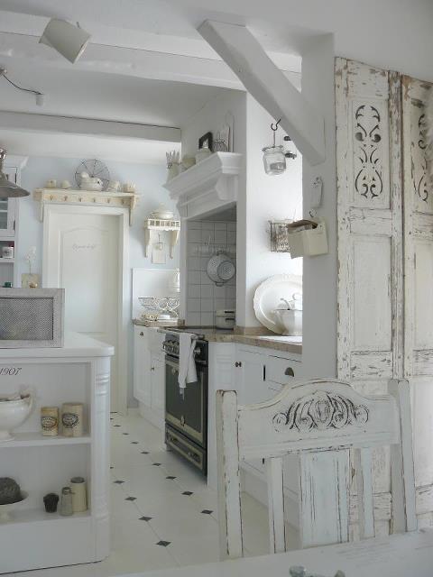 casa shabby : Shabby Chic Con Amore - Casa Shabby Chic.: Cucina tutta bianca ...