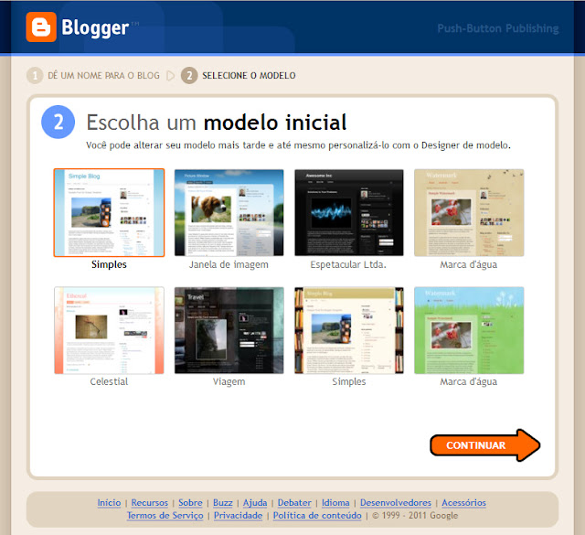 Definir template blogspot