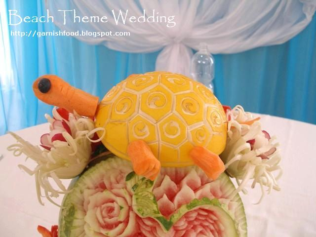 beach theme melon carving
