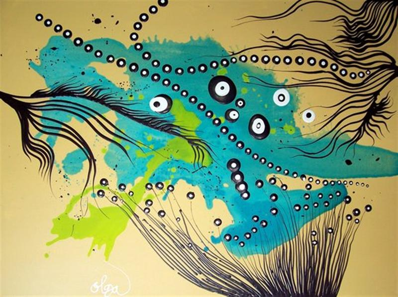 Famous Line Art Paintings : Famous world abstract artists
