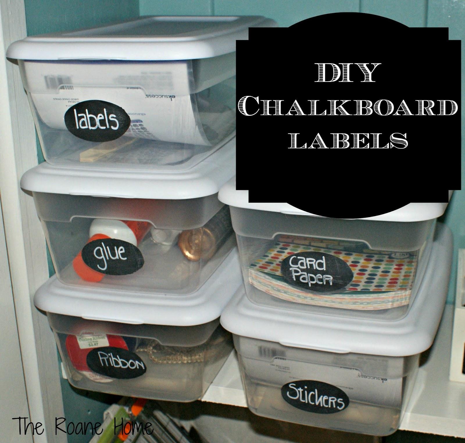 The roane home diy chalkboard labels for Diy chalk labels