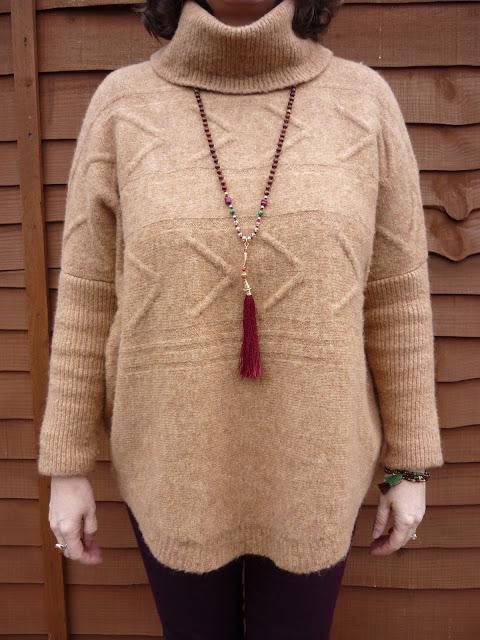 Tu Camel Jumper, Camaieu Tassel Bracelets, Accessorize Tassel Necklace | Petite Silver Vixen