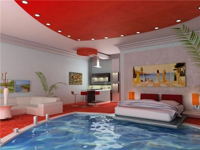 Modern red bedrooms romantic decors ideas 2015