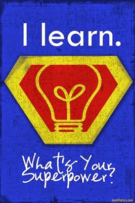 """Learning Superpower Poster from """"Venspired"""" GuestEduCelebrity at TeacherFriends Twitter Chat"""