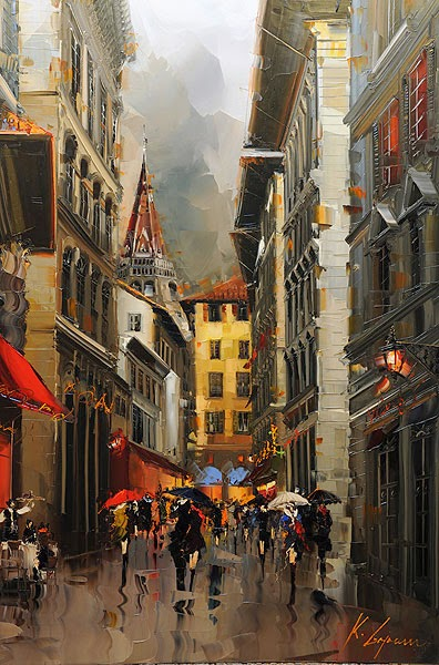08-Firenze-Kal-Gajoum-Paintings-of-Dream-Like Cities-of-the-World-www-designstack-co