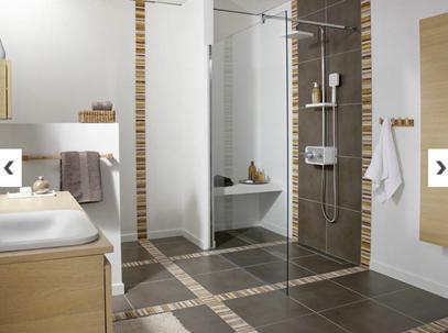 How can i decorate my bathroom with plants and pretty for Salle de bain carrelage effet parquet