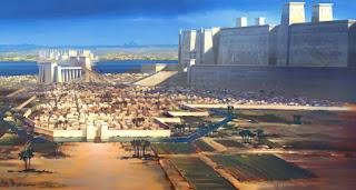 Recreación de ciudad egipcia
