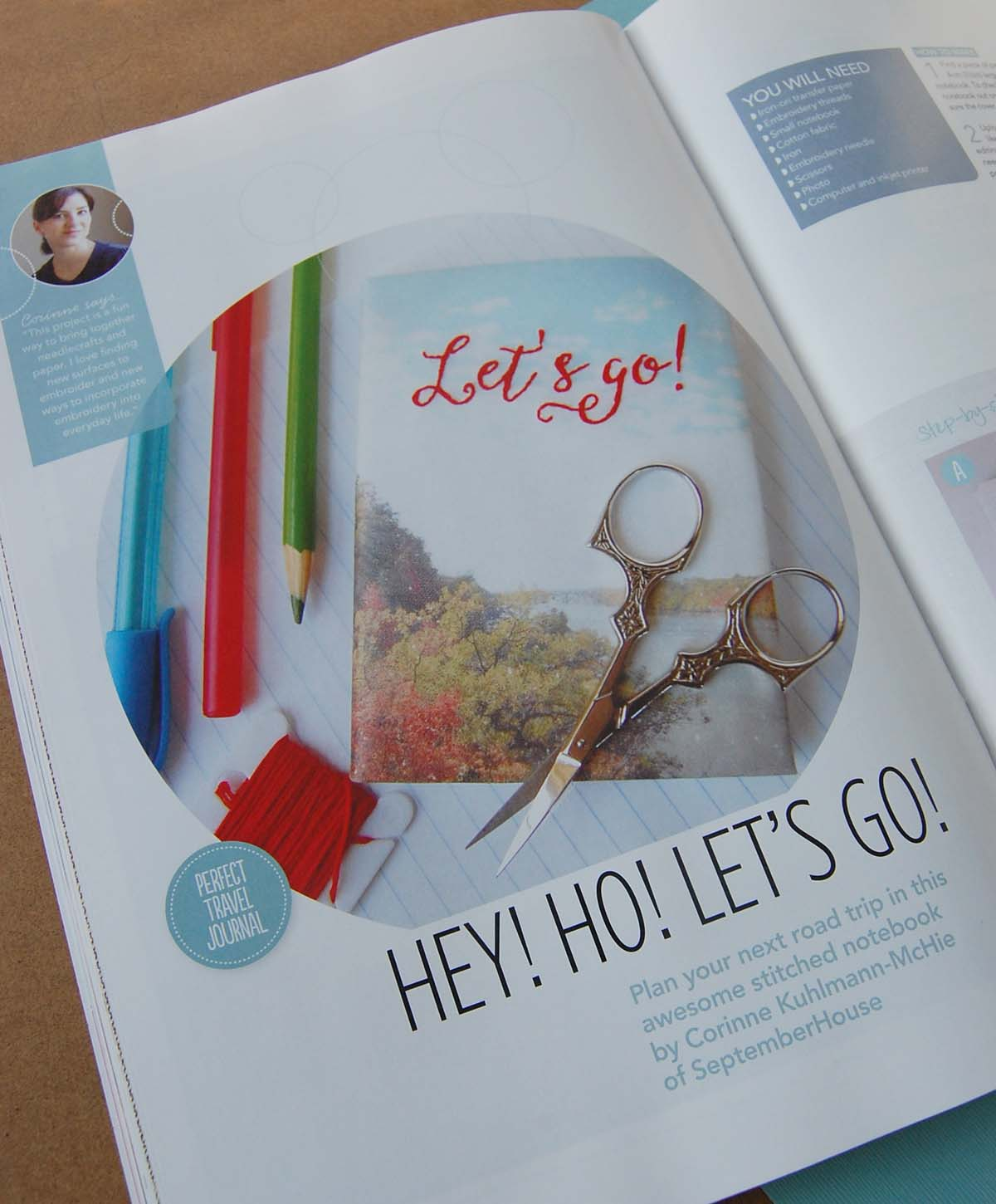 hand embroidered journal tutorial by SeptemberHouse for Hoop-La magazine
