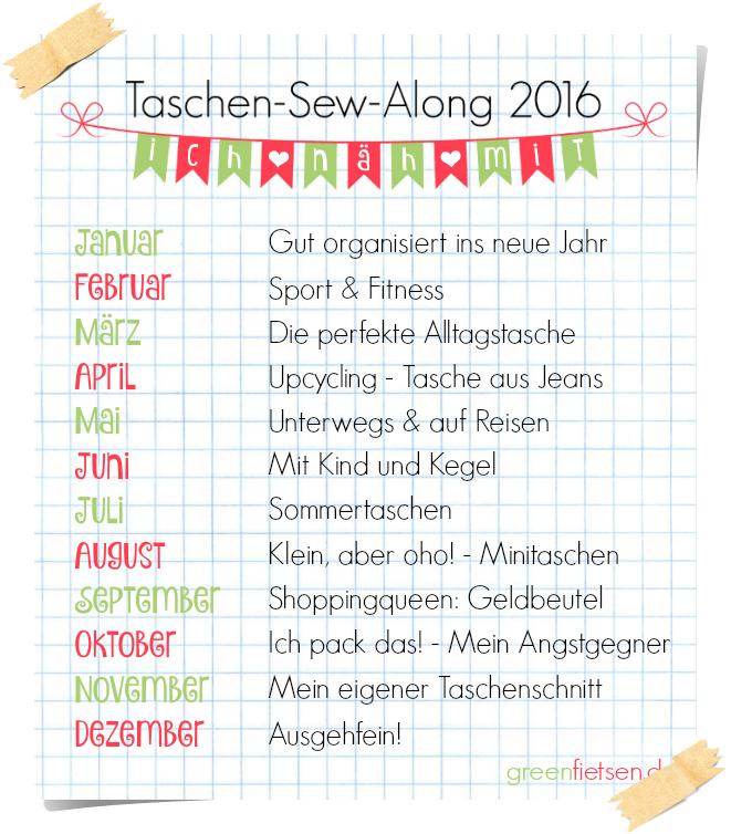 ♥ TASCHEN SEW ALONG 2016 ♥