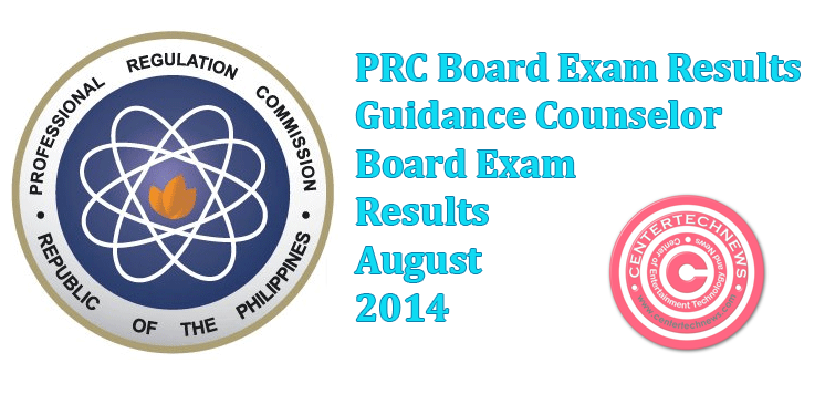 Guidance Counselor Board Exam Results August 2014