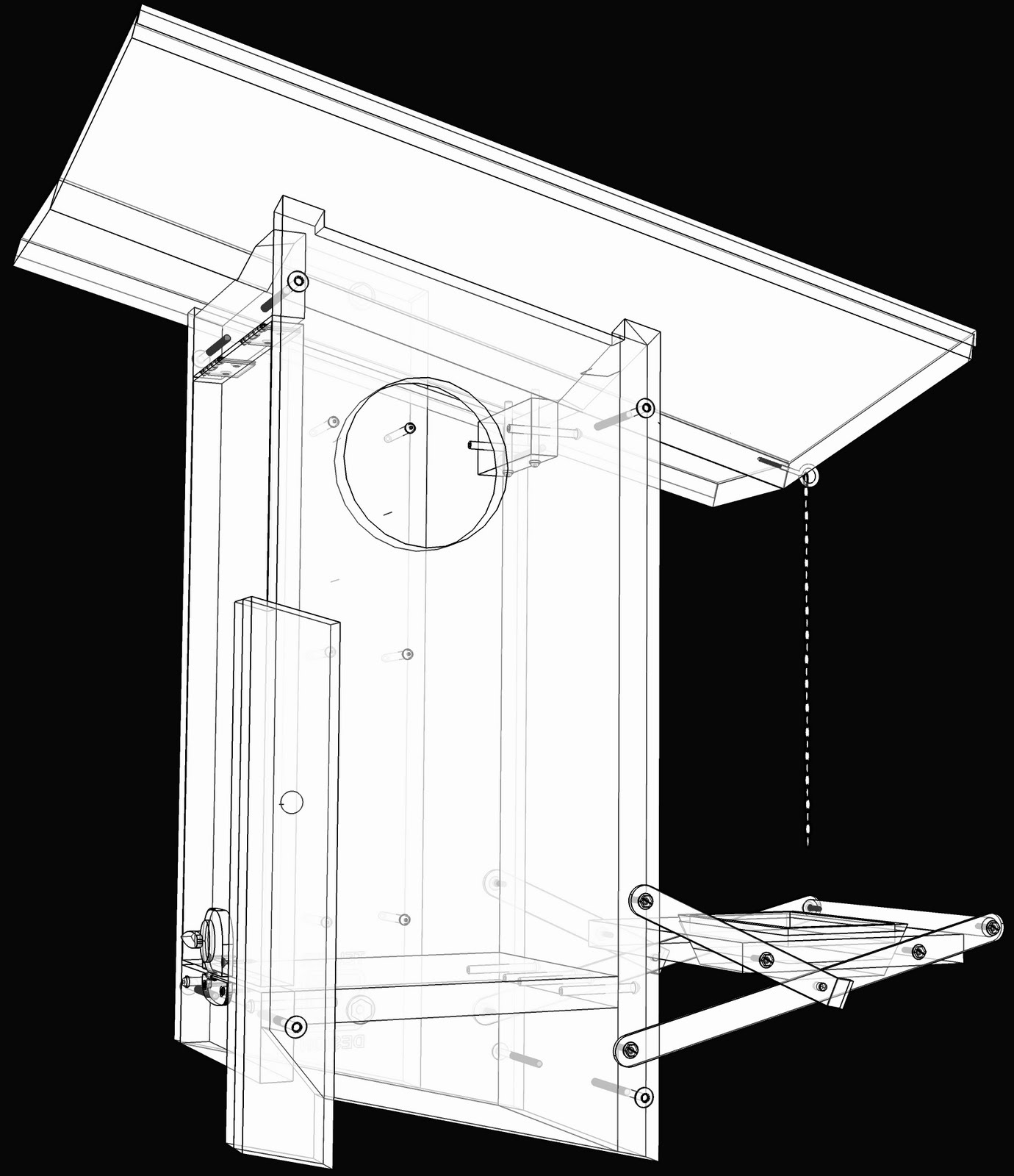 bird house plans sketchup