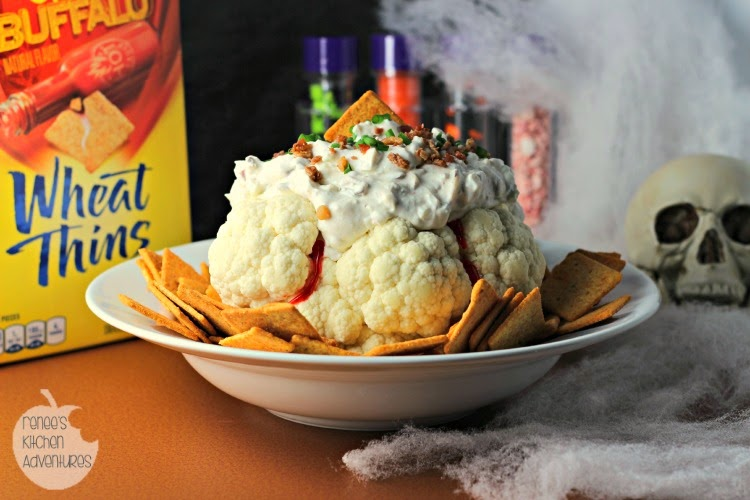 Brainy Blue Cheese and Bacon Dip:  Happy Halloween!  Fun dip for your festivities! #SpookySnacks #shop
