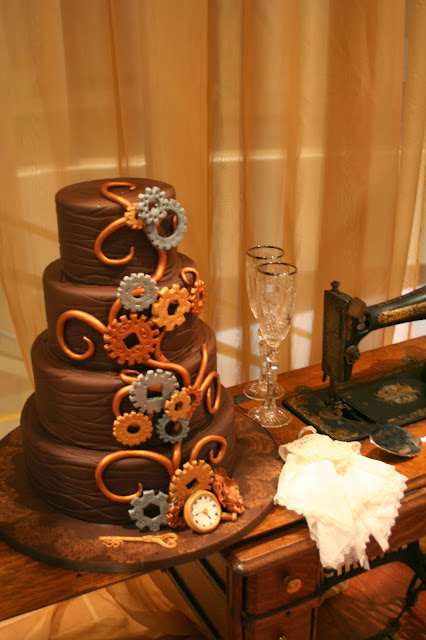 Steampunk Wedding Isha Foss Events Design Half Moone Cruise Terminal Norfolk VA