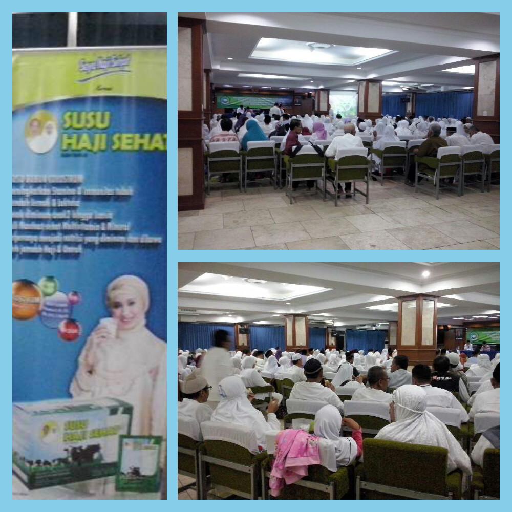 manasik massal calon jamaah haji se jakarta pusat dimesjid Istiqlal bersama susu haji sehat