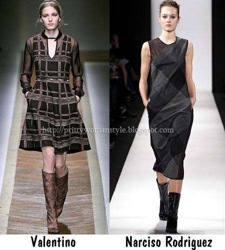 Черни карирани рокли Есен-Зима 2011-2012