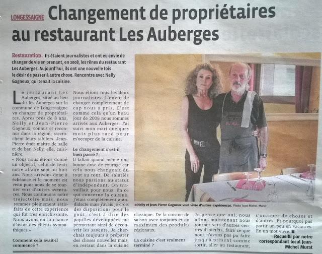 Restaurant les auberges longessaigne